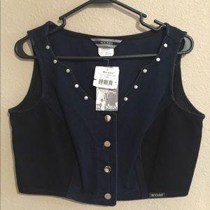 Jackets & Blazers - NEW Jean Vest By Rockie